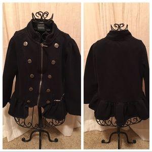 Cute Black Pea Coat 4t